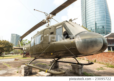 The UH-1 helicopter used by the US military during the Vietnam War