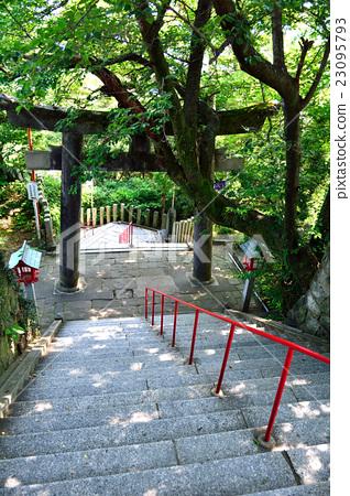 俯視Atago神社的樓梯頂部 23095793