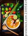 Tom yam kong or Tom yum soup. Thai food. 23095814
