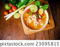Tom yam kong or Tom yum soup. Thai food. 23095815