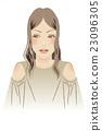 時尚女性前面棕褐色調 23096305