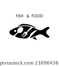 Fish,spoon,fork and knife icon.Fish & food logo 23096436