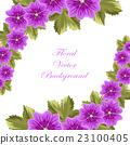 꽃, 화초, 벡터 23100405