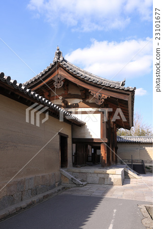 "Horyu-ji Temple Sato Border ""Dongdaemun"" and the soil wall 23101677"