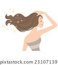 矢量 长发 长头发 23107139