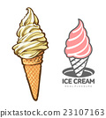 ice, cream, vector 23107163