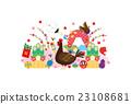 矢量 家禽 公雞 23108681