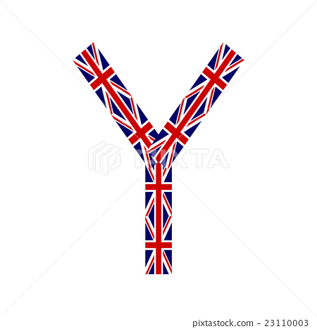 Letter Y made from United Kingdom flags 23110003