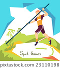 Pole Vaulting Sport Competition 23110198