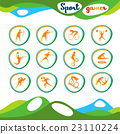 Sport Icon Set Athlete Competition Collection 23110224