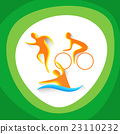 Triathlon Sport Competition Icon 23110232