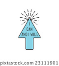 I can and I will Inspirational vector illustration 23111901
