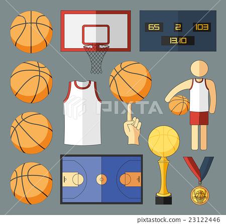 Basketball Vector Elements 23122446