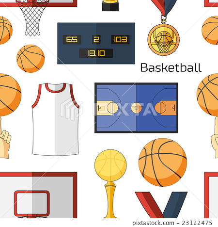Basketball icons pattern 23122475