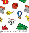 Basketball Elements Pattern 23122492