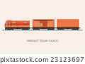 Freight train cargo cars isolated on background. 23123697