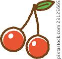 樱桃 水果 矢量 23125665