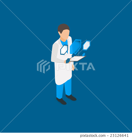Scientist with tablet pc 23126641