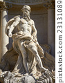 The Neptune Statue of Trevi Fountain in Rome Italy 23131089