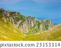 高山的 山丘 牧場 23153314