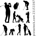 golfers silhouettes collection 23153397