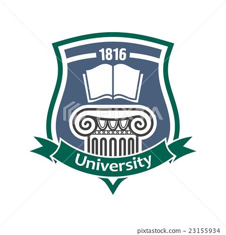 Vintage heraldic badge for university design 23155934