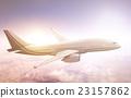 Airplane Transportation Flight Flying Vehicle Blue Sky Concept 23157862