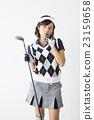 female, contemplation, golfer 23159658