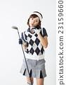 golf, contemplation, female 23159660