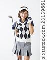 女性 握拳 高爾夫球手 23159661