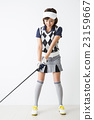 女性 高尔夫球手 高尔夫 23159667
