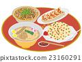 今日の昼飯ラーメンセット 23160291