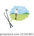 矢量 高爾夫 男人们 23162861