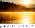 beautiful landscape with mountains and lake at 23163021