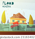 Flood Disaster Illustration 23163402