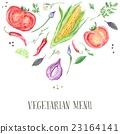 Vegetarian Menu Cover Template 23164141