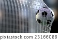 soccer ball in the net. 3d rendering. 23166089