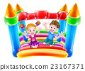 Kids Jumping on Inflatable Castle 23167371