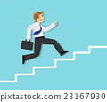 staircase, running, businessman 23167930