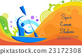 Canoe Slalom Athlete Sport Competition Colorful 23172308