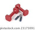 Dumbbells and hand gripper 23173091
