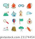 backpack, bonfire, compass 23174454