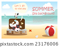 Enjoy tropical summer holiday with little dog 4 23176006