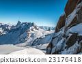 Snow in Chamonix French alps 23176418