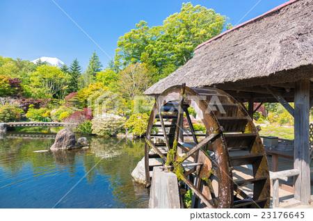 물레 방아와 일본 정원 23176645
