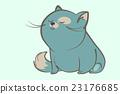 fat blue cat dream 23176685
