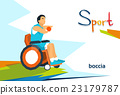 Disabled Bowling Player On Wheelchair Sport 23179787