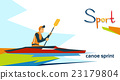 Disabled Athlete Canoe Sprint Sport Competition 23179804