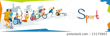 Disabled Athletes Sport Competition Banner 23179865