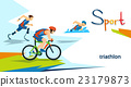 Disabled Athletes Triathlon Marathon Sport 23179873